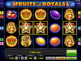 Fruits And Royals в зале Вулкан